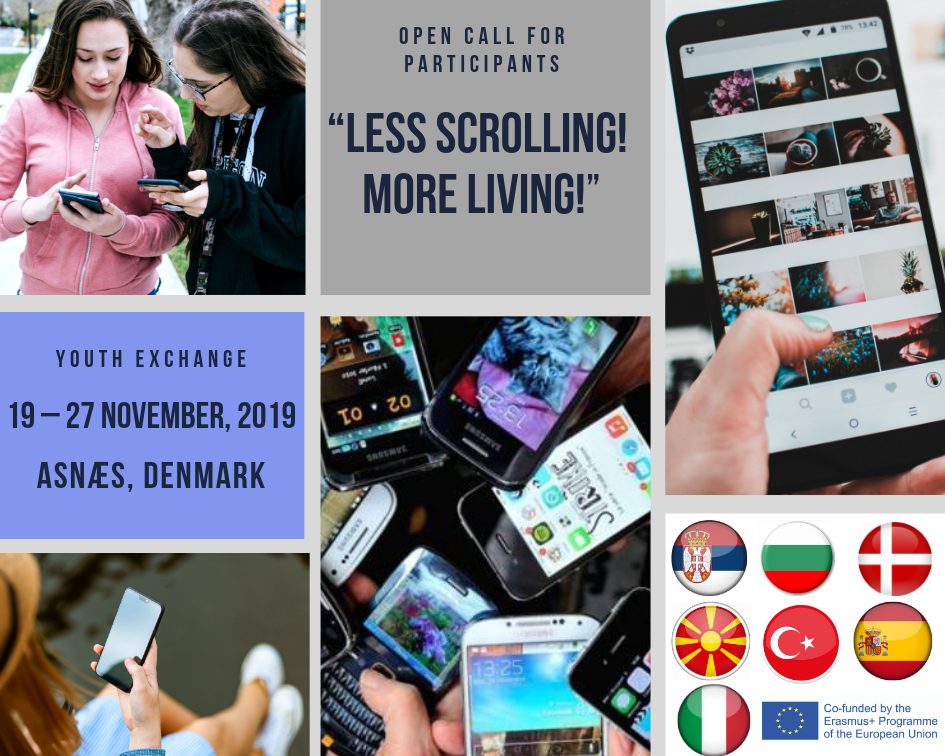 "Youth Exchange  ""Less Scrolling! More Living!"", 19 – 27 November, 2019 – Asnæs, Denmark"