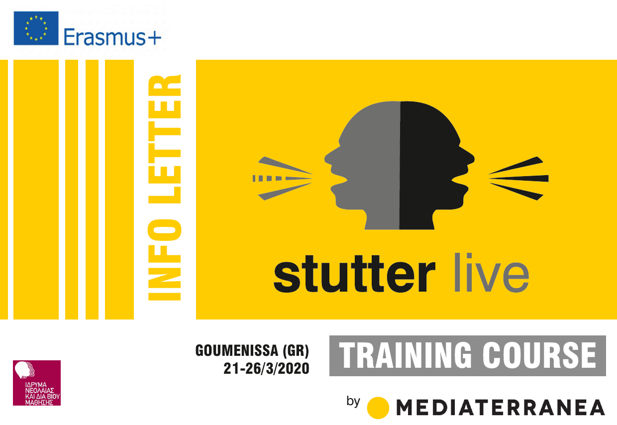 "Training Course: ""Stutter Live Project"" 21 – 26 March, 2020 – Goumenissa, Greece"