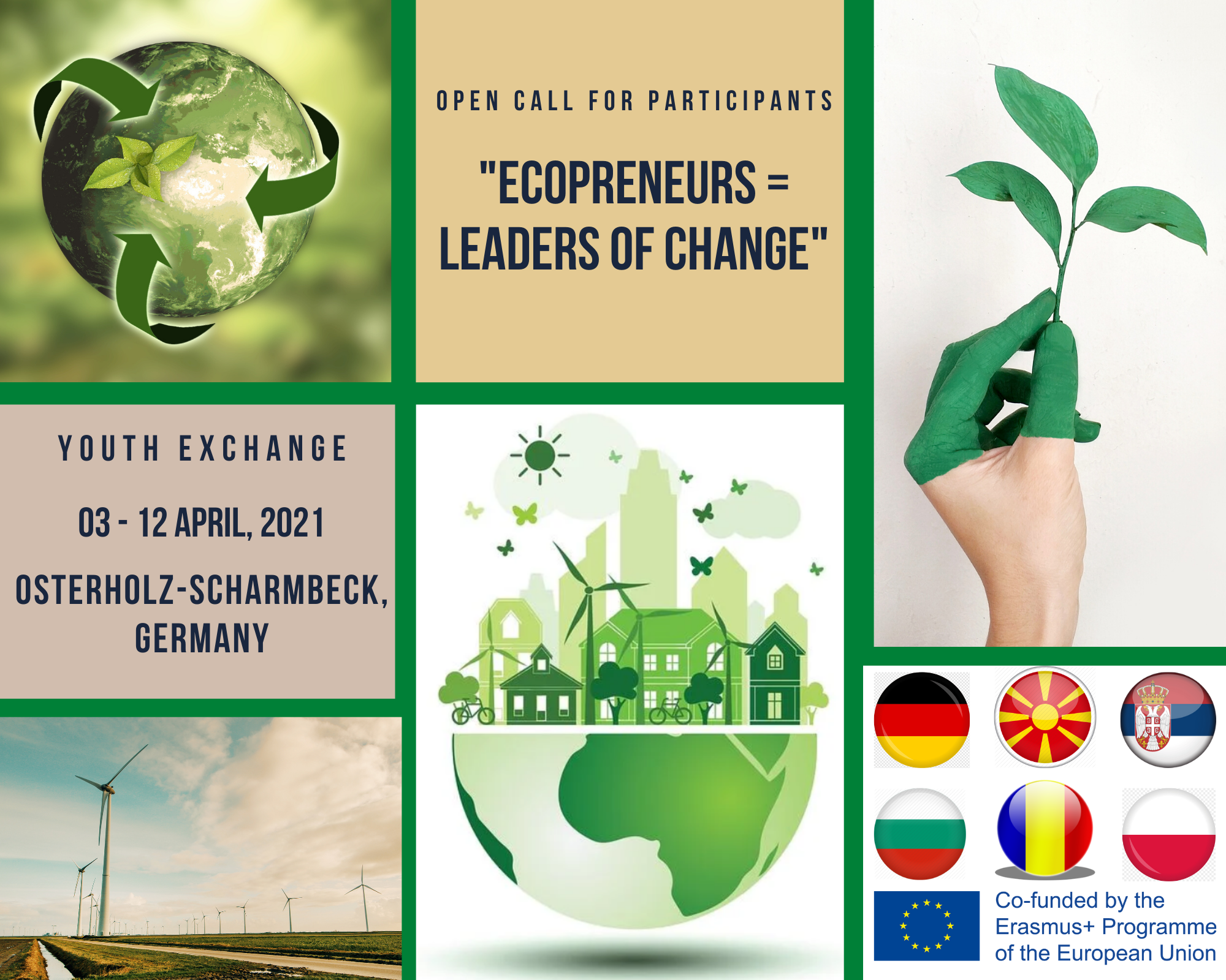 "Call For Participants For A Youth Exchange  ""Ecopreneurs = Leaders Of Change"""