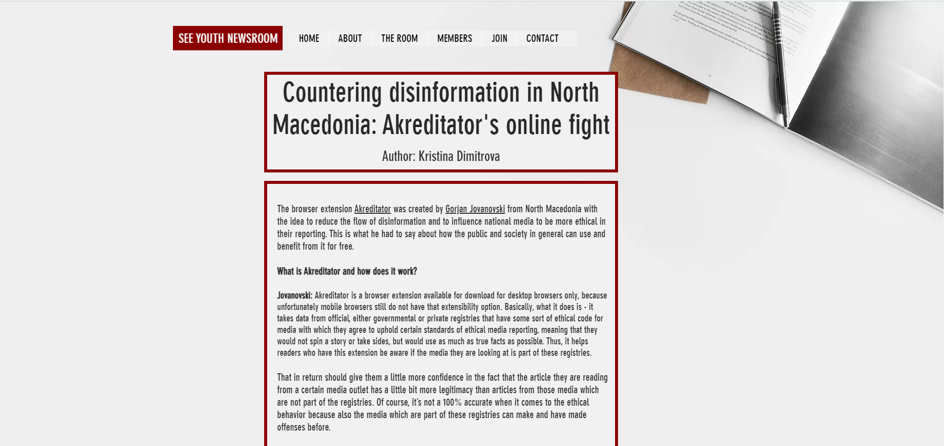Countering Disinformation With Browser Extension 'Akreditator'