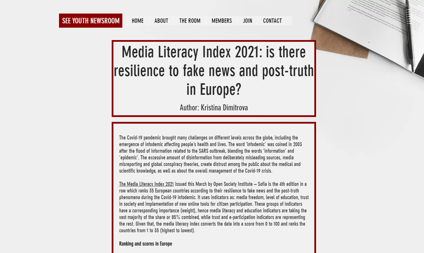 Media Literacy Index 2021: Is There Resilience To Fake News And Post-truth In Europe?