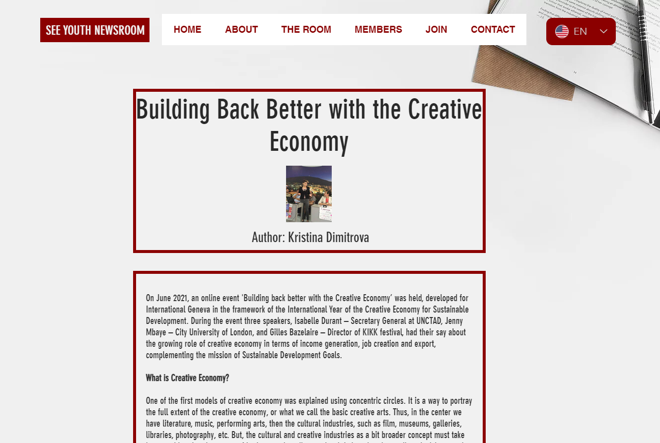 Building Back Better With The Creative Economy